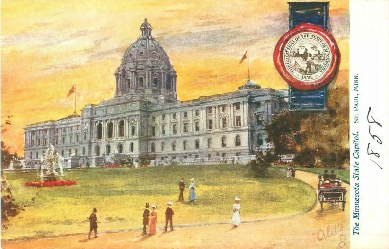 Minnesota State Capitol Tuck's State Capitols USA 2454 Postcard