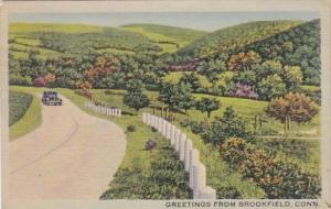 Connecticut Greetings From Brookfield 1941