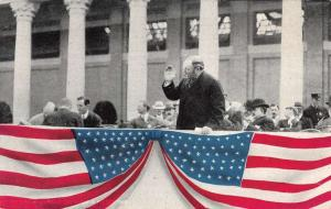 Vice President Sherman NY State Fair American Flag Speech Antique Postcard K9318