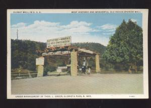 GLORIETA PASS NEW MEXICO OLDEST WELL IN THE USA VINTAGE POSTCARDINDIAN