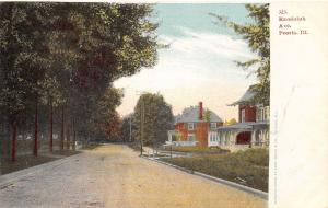 Peoria Illinois~Randolph Avenue Homes~Dirt Road~1905 Postcard