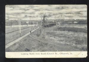 OTTUMWA IOWA LOOKING NORTH FROM CHURCH STREET VINTAGE POSTCARD