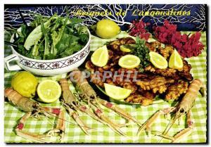 Postcard Modern Kitchen Fried prawns