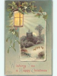 Divided-Back CHRISTMAS SCENE Great Postcard W9856