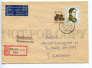 272956 DDR East Germany USSR 1988 registered real post COVER