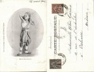 indochina, Chinese Siamese Mestizo Girl, Miscegenation (1903) Postcard