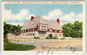 MORGANFIELD, Kentucky KY ~ TEA ROOM Audubon State Park~Henderson County Postcard