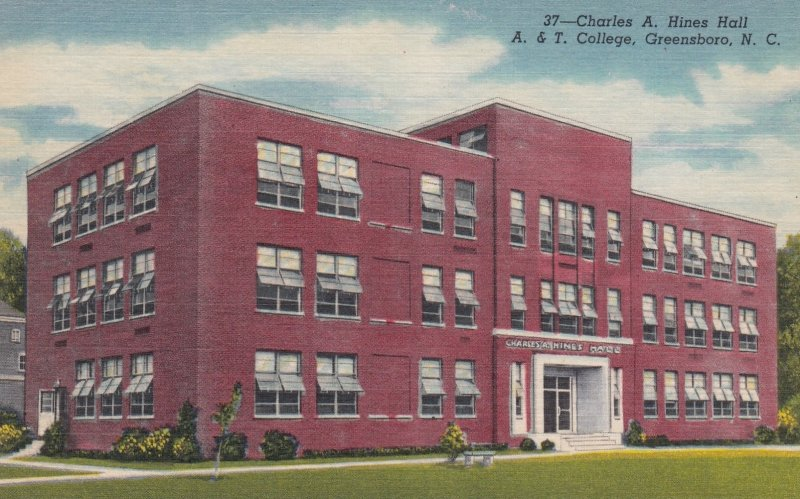 GREENSBORO, North Carolina, 30-40s: Charles A. Hines Hall, A. & T. College