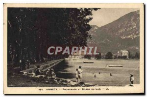 Postcard Old Annecy Lake Promenade and the Edges