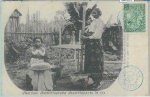 80159 -  MADAGASCAR -  Vintage Postcard - ETHNIC : Bettimisaraka  female 1908