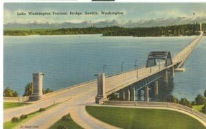Lake Washington Pontoon Bridge, Seattle, Washington, 1940...