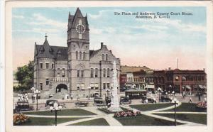 The Plaza And Anderson County Court House, ANDERSON, South Carolina, 1910-1920s