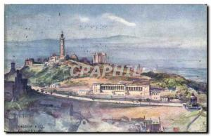 Old Postcard Edinburgh Calton Hill
