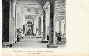 Vestibule, Hotel Schweizerhof, LUCERNE, Switzerland, 1900-1910s