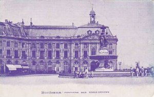 France Bordeaux Fontaine des Trois Graces 1905