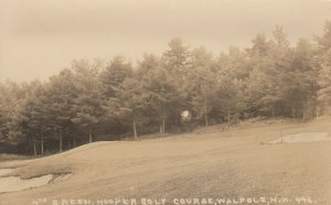 RP: WALPOLE , New Hampshire, 1910-30s; 4th Green, Hooper Golf Course