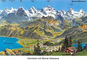 Switzerland Interlaken mit Berner Oberland Panorama Thunersee Jungfrau Mountains