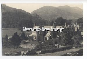 tq1789 - Cumbria - Crow How Guest House in the 1930s, Ambleside - Postcard