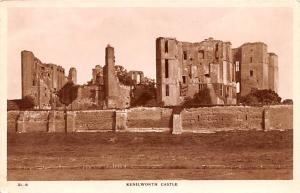Scotland, UK Old Vintage Antique Post Card Kenilworth Castle Writing on back