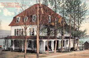 Notre Dame Du lac Quebec Canada Cloutiers Hotel Antique Postcard K16981