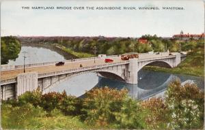 Maryland Bridge Winnipeg Manitoba MB Assiniboine River UNUSED Postcard D99