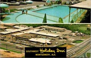 Southwest Holiday Inn Montgomery ALA Birdseye view pool US31 vtg Postcard