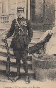 France , War 1914-18 ; French Aviator Ace Capitaine GUYNEMER & Guns