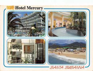 Spain Hotel Mercury Santa Susanna Swimming Pool Beach Postcard