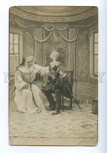 129500 NAPOLEON & nun Vintage postcard