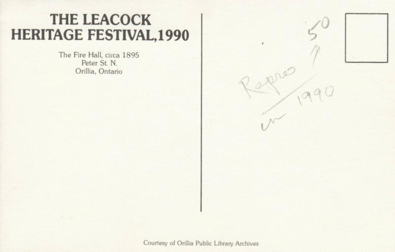 ORILLIA , Ontario , Canada , 1990 ; Leacock Heritage Festival