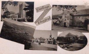 Greetings From Chagford Devon RPC Postcard