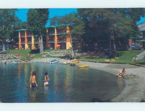 Pre-1980 LODGE SCENE Lake Chelan WA ho5020