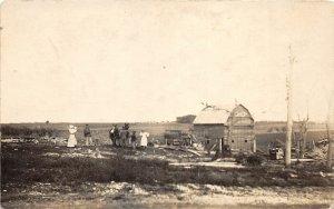 F53/ Waverly Greenwood Nebraska RPPC Postcard Cyclone Barn Disaster