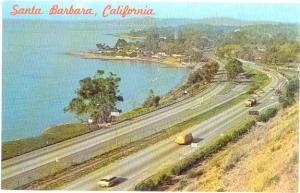 Hwy 101 & Coastline entering from the South Santa Barbara California