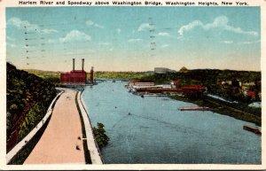 New York Washington Heights Harlem River and Speedway Above Washington Bridge...