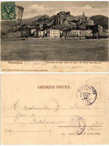 CPA VENTIMIGLIA Passerella sul Roja veduta del Capo e del Monte. ITALY (530565)