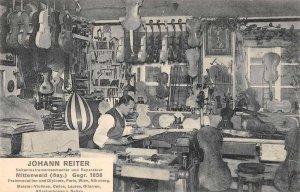 Johann Reiter Violin Maker Workshop Interior Vintage Postcard JJ658755