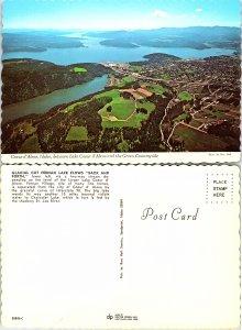 Coeur d' Alene, Idaho between Lake Coeur d' Alene and the Green Countryside
