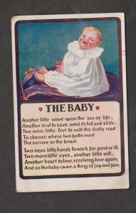 The Baby - Printed In UK - Used 1912 - Some Wear
