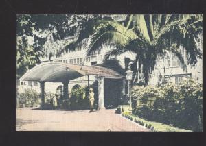 KING'S HOUSE HOME OF GOVERNOR KINGSTON JAMAICA VINTAGE POSTCARD
