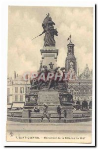 Saint Quentin Old Postcard Monument of Defense 1557