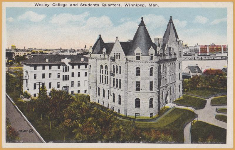 Winnipeg, Manitoba - Wesley College and Students Quarters