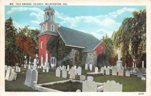 Wilmington Delaware~Old Swedes Church & Cemetery~Gravestones~Info on Back~1920s