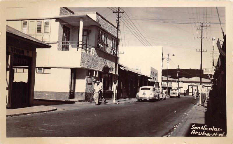 E23/ Aruba Foreign Postcard RPPC 1943 Photo San Nicholas N.W. Dutch Caribbean