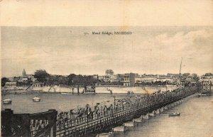 Iraq Bagdad Maud Bridge 1923 Postcard
