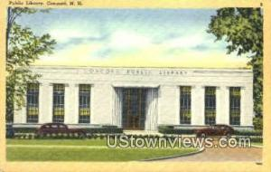 Public Library Concord NH Unused