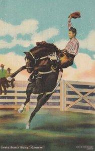 Smoky Branch Riding GLASSEYE, 1930-40s; Rodeo Cowboy