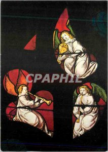 Modern Postcard Autun Cathedrale Saint Lazare Stained del 'Jesse Tree Angels ...