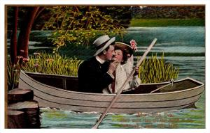 8667   Romance,  Lovers in Boat,  My Little Eva,  Theochrom Series 1084 , 2 of 6