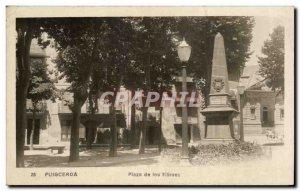 Old Postcard Puigcerda Plaza de los Heroes